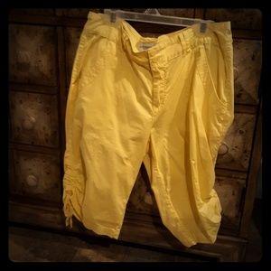 Caribbean Joe Island Supply Co Yellow Shorts. Sz 8